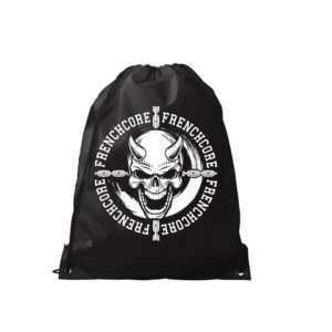 Frenchcore backpack with print gabber merchandise webshop by 100% hardcore