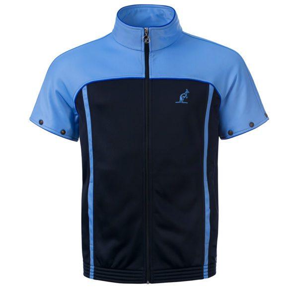 Australian oldschool training jacket gabber zipsleeves blue
