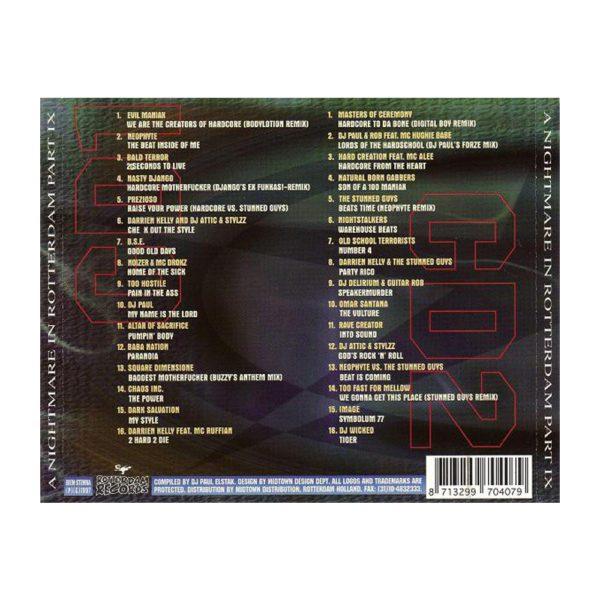 Nightmare outdoor gabber DVD 2008 Rotterdam Records by 100% Hardcore webshop