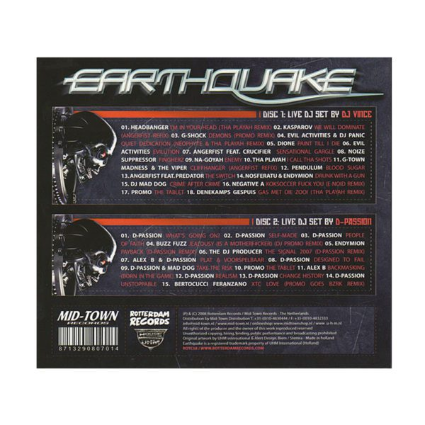 Earthquake CD by predator seismic Intensity gabber mainstream millenium