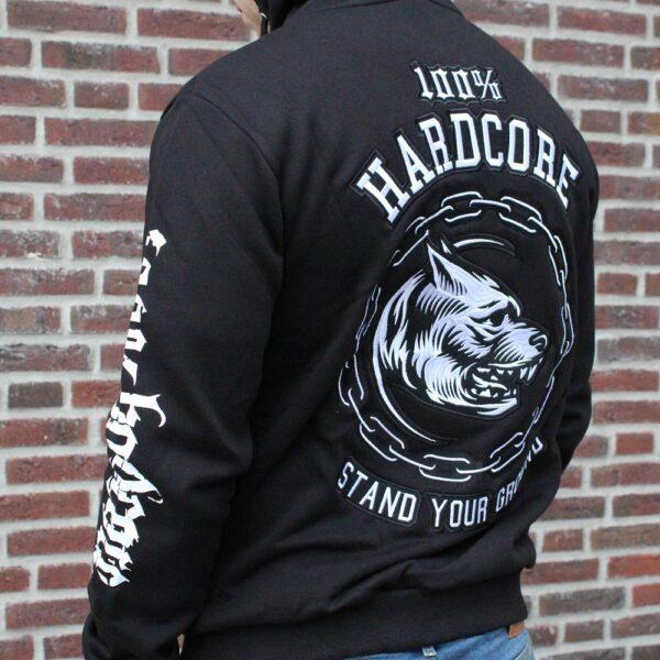 100% hardcore sweater colelction big pit bull logo gabber