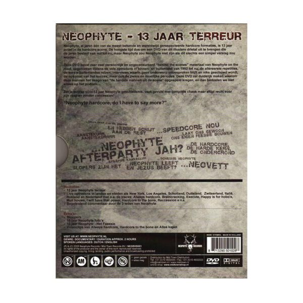 Neophyte oldschool gabber DVD for 100% hardcore webshop