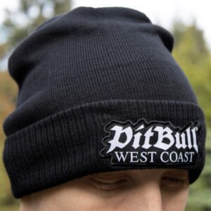 Pit Bull West Coast winter beanie logo at official 100% Hardcore webshop