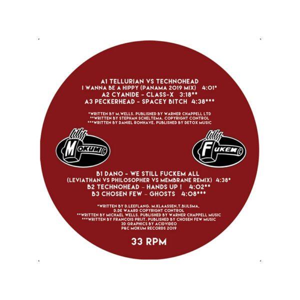 Mokum records vinyl LP Tellurian Technohead I wanna be a hippy Hardcore