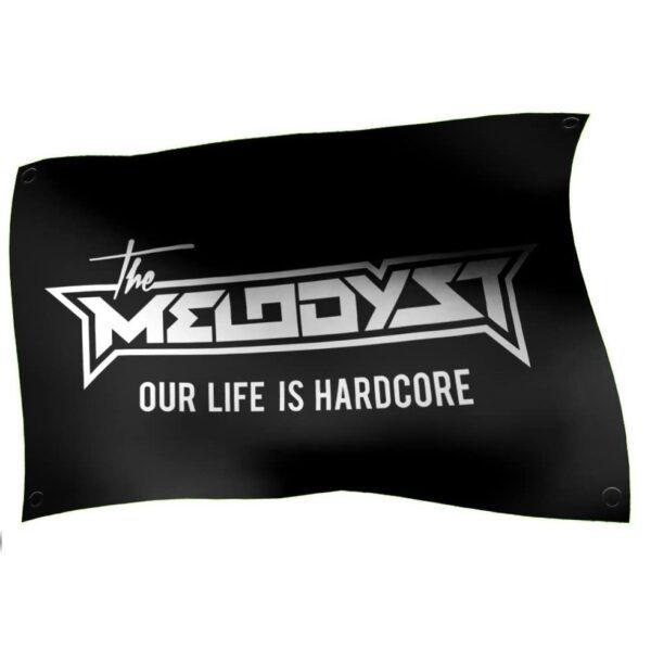 The Melodyst flag 100% hardcore official webshop gabber banner