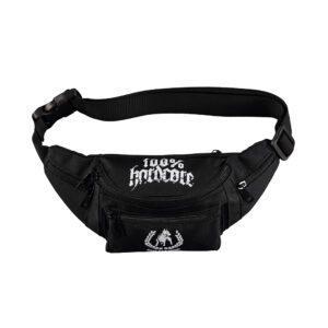 100% hardcore black hipbag with pit bull print. Official gabber merchandise
