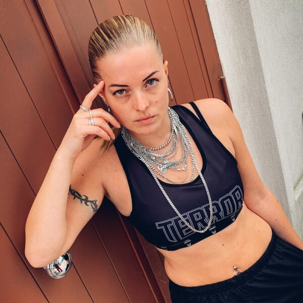 Terror lady sporttop by Muisz for official 100% Hardcore gabber webshop