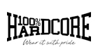 100% hardcore logo for the brand at the official streetwear webshop