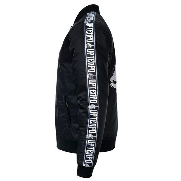 Uptempo bomber jacket winter middlefinger gabber black 100% Hardcore