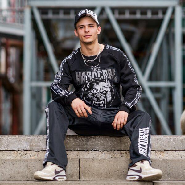 100% Hardcore gabber cap sweater pit bull head webshop