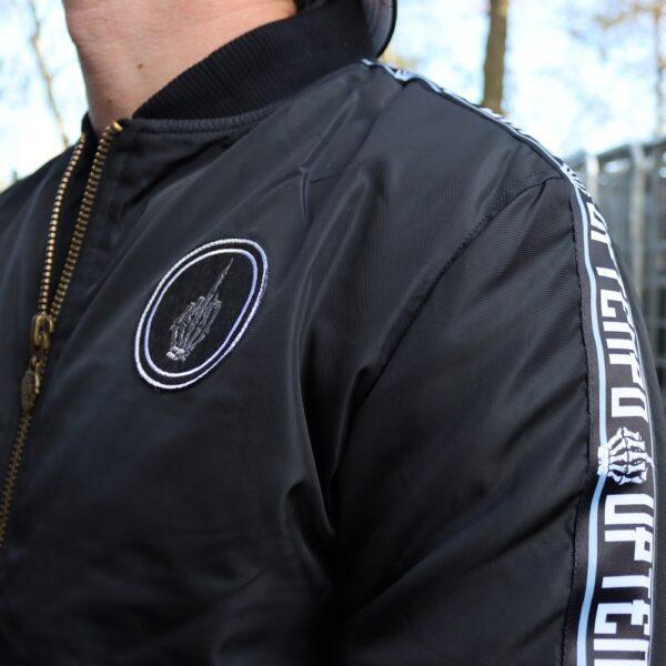 Uptempo hardcore bomber jacket middlefinger gabber merchandise webshop