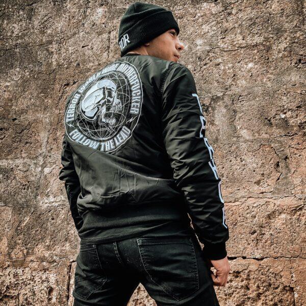 New Terror bomber jacket collection worn by DJ Nekrosystem Extreme gabber merchandise