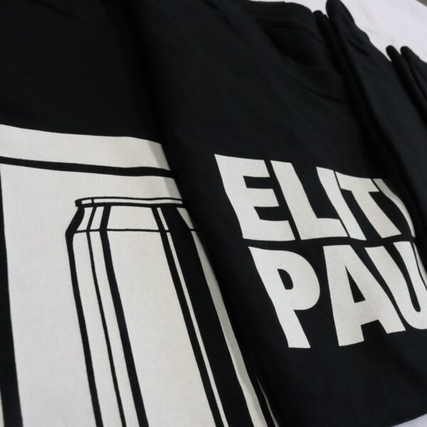 elitepauper T-shirt clothing collection detail bier en slippers