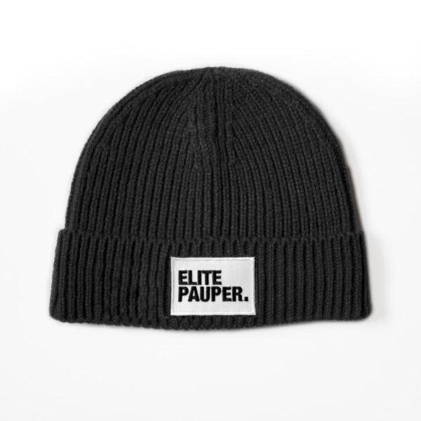 Elitepauper beanie black streetwear official 100% Hardcore webshop