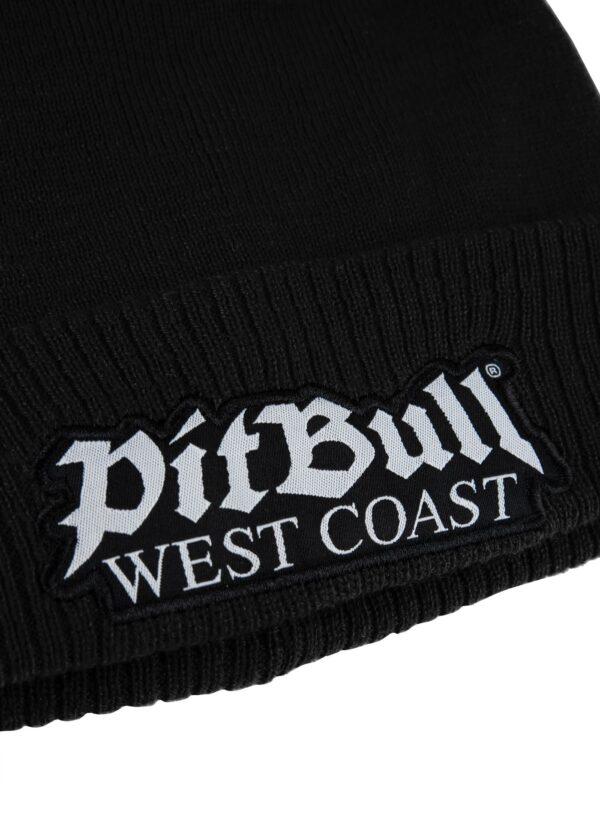 Pit Bull West Coast beanie black old streetwear logo germany gabber