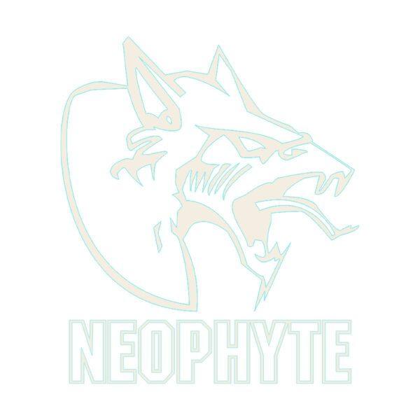 Neophyte oldschool gabber carsticker white at official 100% Hardcore webshop