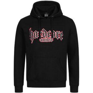 Hardcore United Hooded Sweater oldschool logo gabber, official webshop