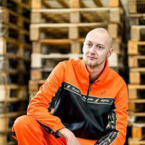 Orange oldschool gabber aussie australian suit at 100% Hardcore webshop
