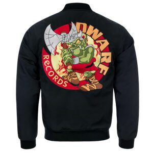 Dwarf records bomber jacket old school gabber clothing webshop 100% Hardcore