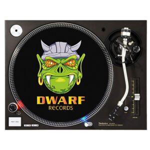 Dwarf records slipmat old school vinyl gabber merchandise webshop