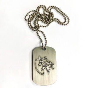 Neophyte merchandise metal chain dogtag gabber