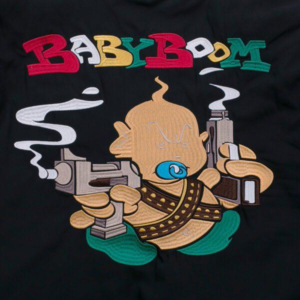 Early gabber bomberjacket babyboom records by 100% Hardcore wear webshop