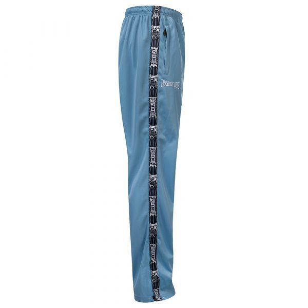100% Hardcore gabber training pants blue taping clothing merchandise wear