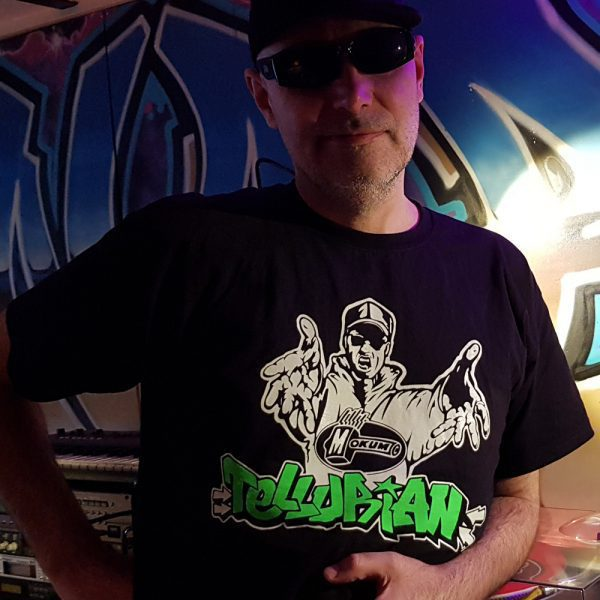 Dj tellurian T-shirt black mokum DJ artist gabber oldschool 100% Hardcore webshop