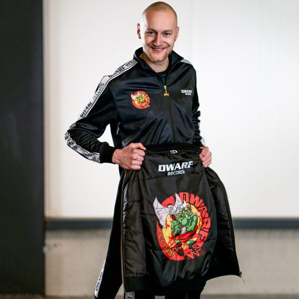 Dwarf records suit and bomber jacket oldschool gabber clothing merchandise at 100% Hardcore webshop