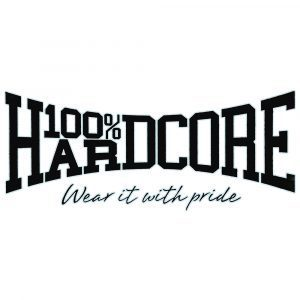 100% Hardcore support carsticker black gabber ride
