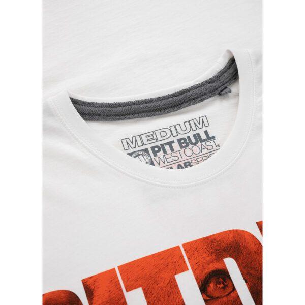 Pit Bull West Coast T-shirt clothing dogprint streetwear 100% Hardcore webshop White