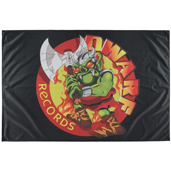 Dwarf records flag with old logo oldschool gabber merchandise XSV at official 100% Hardcore webshop