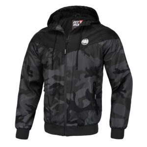 Pit Bull West coast summer jacket dark camo hooded zipper 100% Hardcore webshop