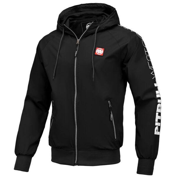 Pit Bull West Coast black summer jacket with logo streetwear fighting 100% Hardcore hooded