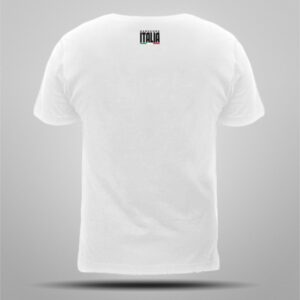 Hardcore Italia gabber clothing white T-shirt skull Italian flag by 100% Hardcore webshop