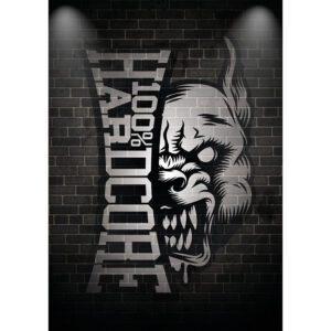 100% Hardcore poster set of 3 gabber logo's a2 format gabber merchandise collection hardwear