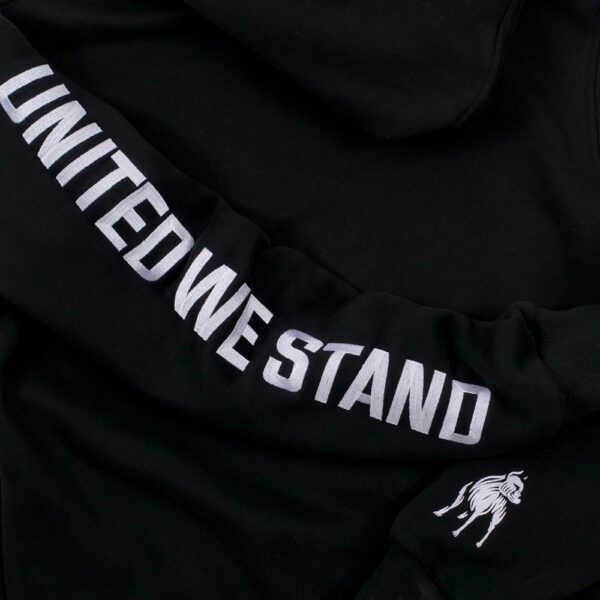 100% Hardcore hooded sweater black united we stand gabber clothing collection hardwear