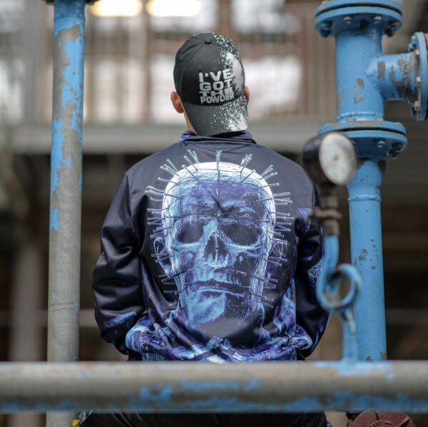 100% Hardcore gabber model with hellraiser training jacket for webshop