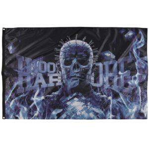 100% Hardcore hellraiser flag blue skull webshop gabber clothing and merchandise