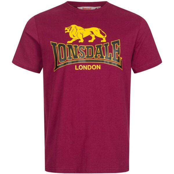 Lonsdale london T-shirt cheap price burgundy lion logo