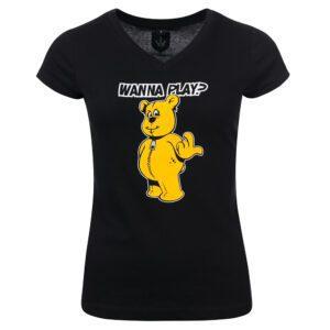 Wanna Play? DJ Paul Elstak dames shirt hardcore merchandise