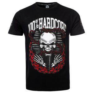 100% Hardcore gabber T-shirt skull design festival merch wear