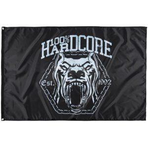 100% Hardcore dog banner black gabberwear united merchandise