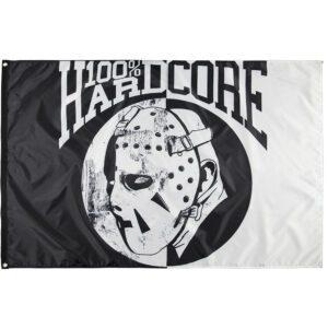 100% Hardcore flag angerfist mask hockey jason gabberwear united